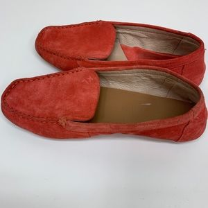 KARL LAGERFELD Red Suede Slip On Loafers Vernon 7